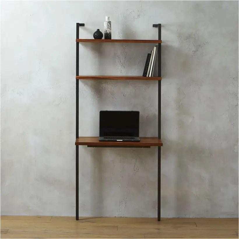 Simple iron bookshelves decoration