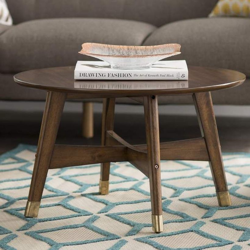 Simple round coffee table