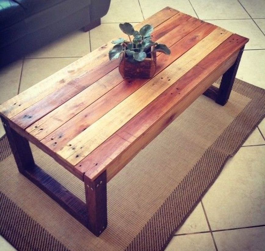 Simple wooden coffee table