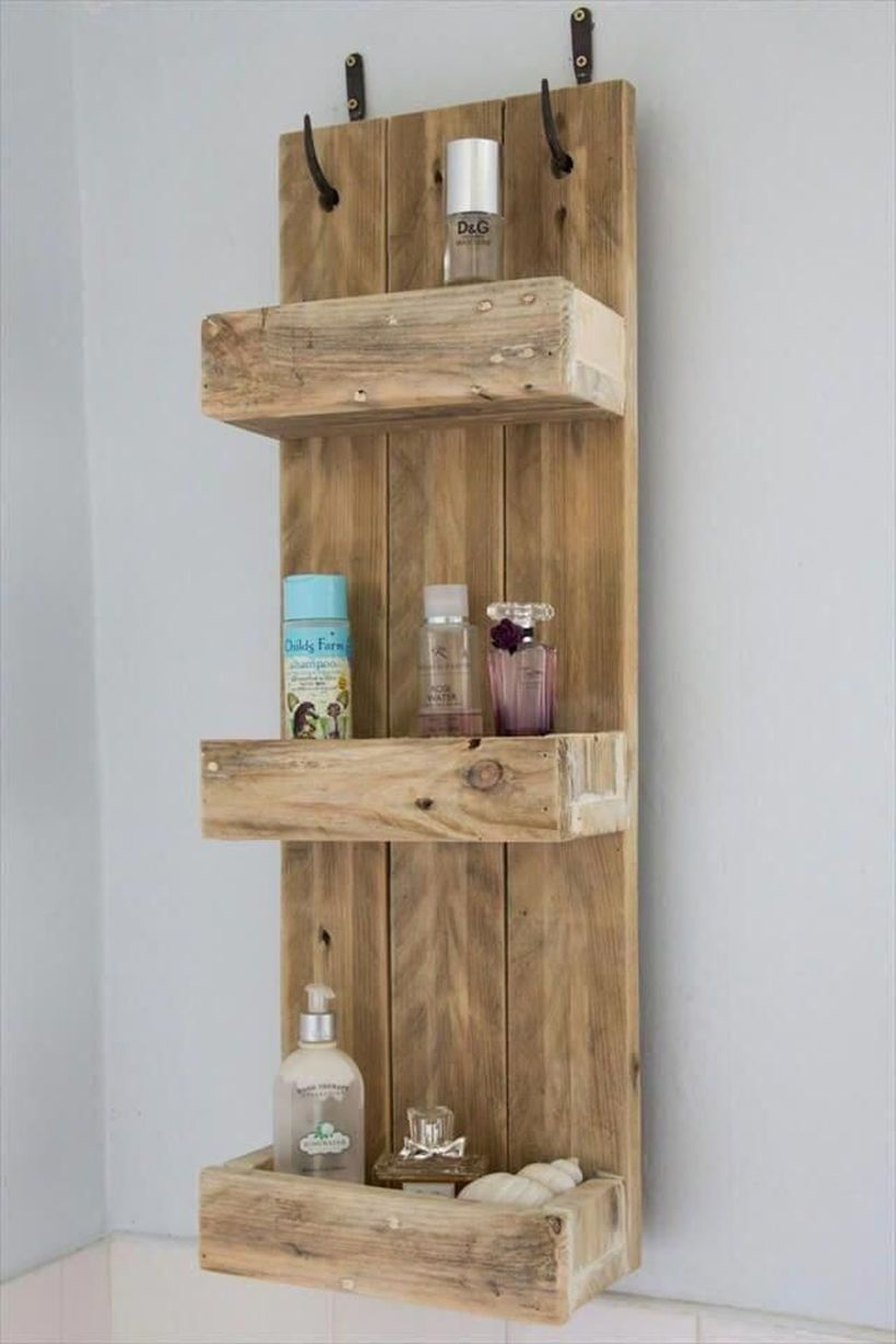 Tiered storage on the wall