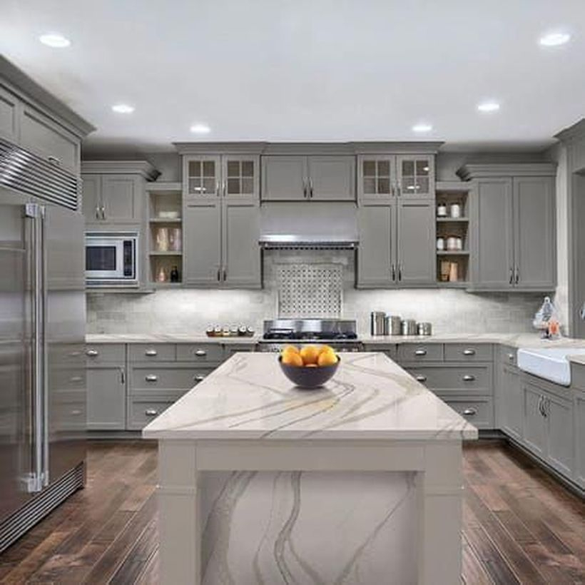 White pattern countertop design ideas