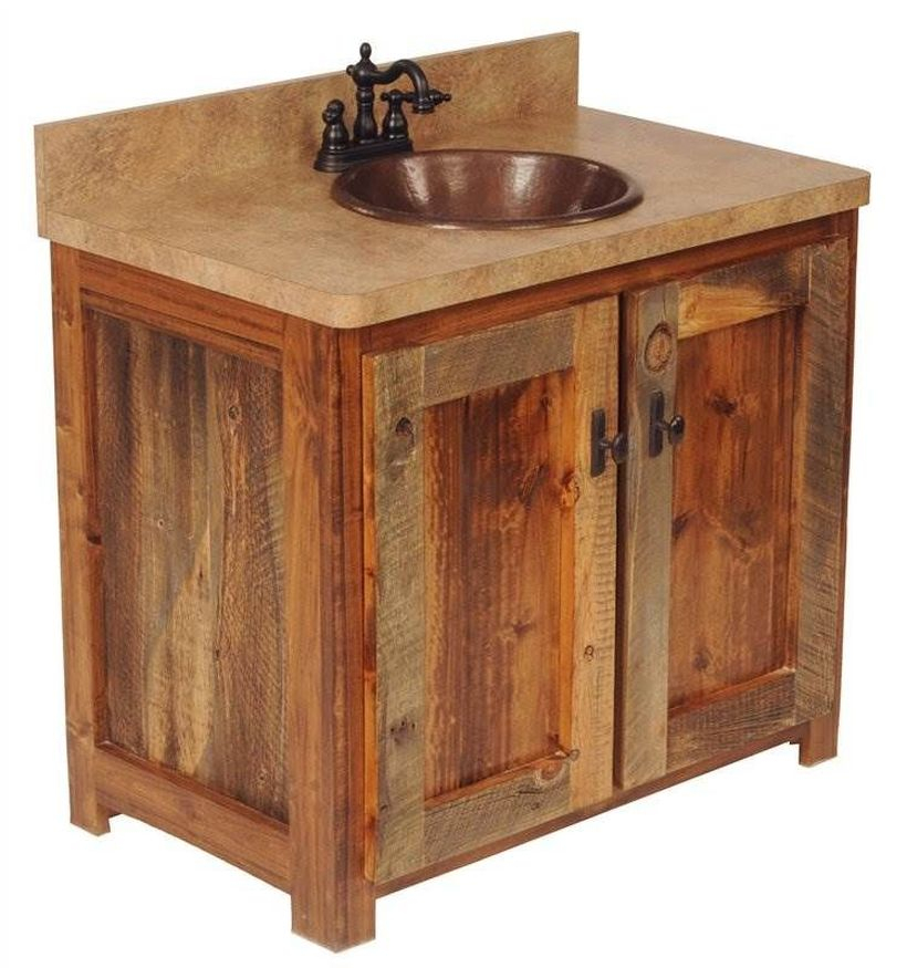 Wooden cabinet under the sink