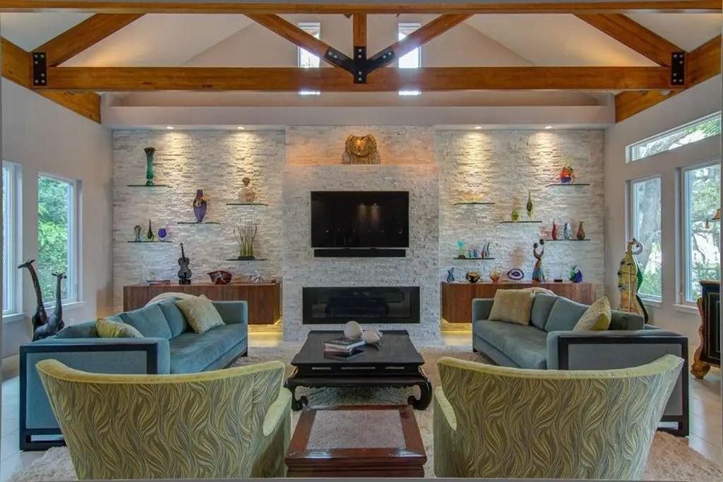 Creative shelf for living room