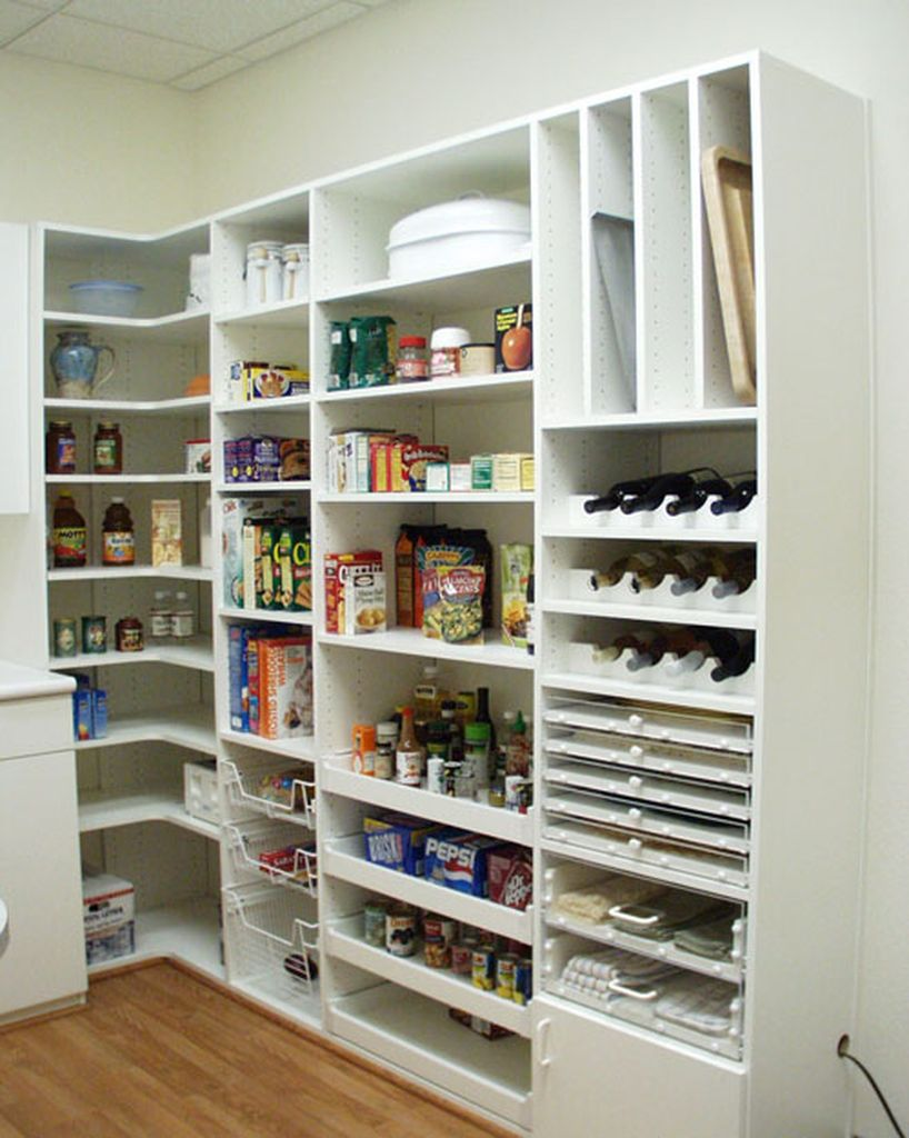 Diy kitchen pantry with shelving system