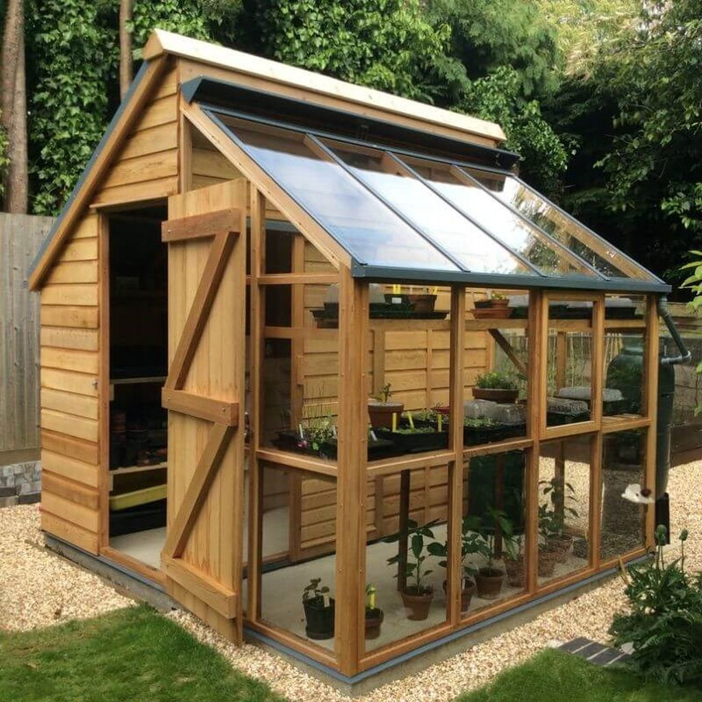 Greenhouse storage shed for your backyard