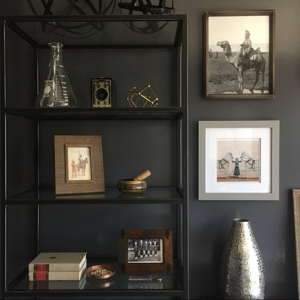 Iron shelf in back to beautify your home