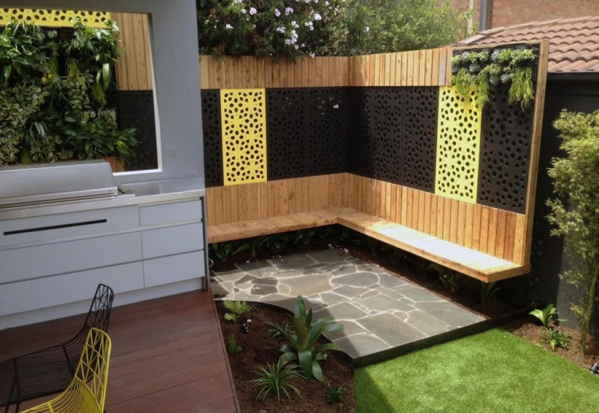 Modern-styled privacy screen