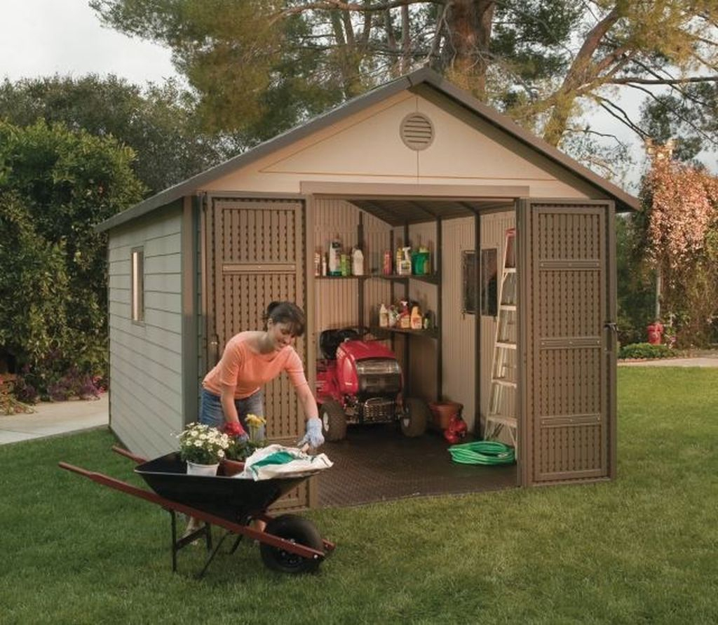 Modern storage shed for garden