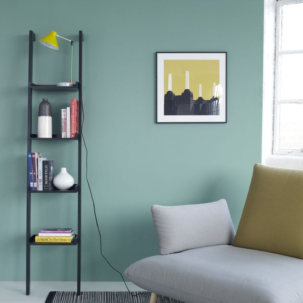 Stunning storage ideas for a small bedroom with iron bookcase in black to complete your bedroom storage