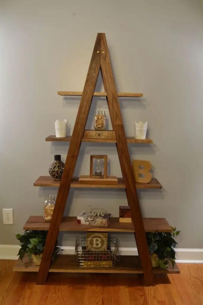 Unique wooden shelves