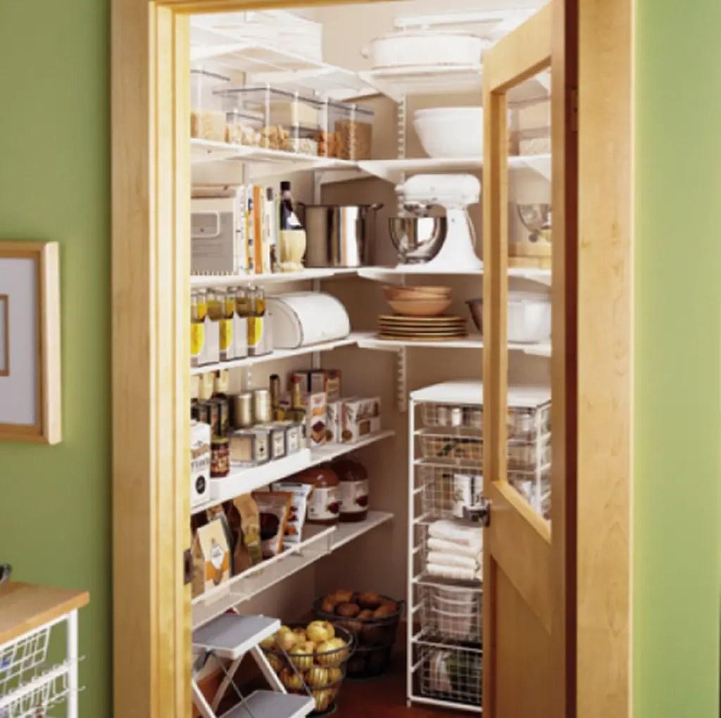 White rack to organize your kitchen pantry