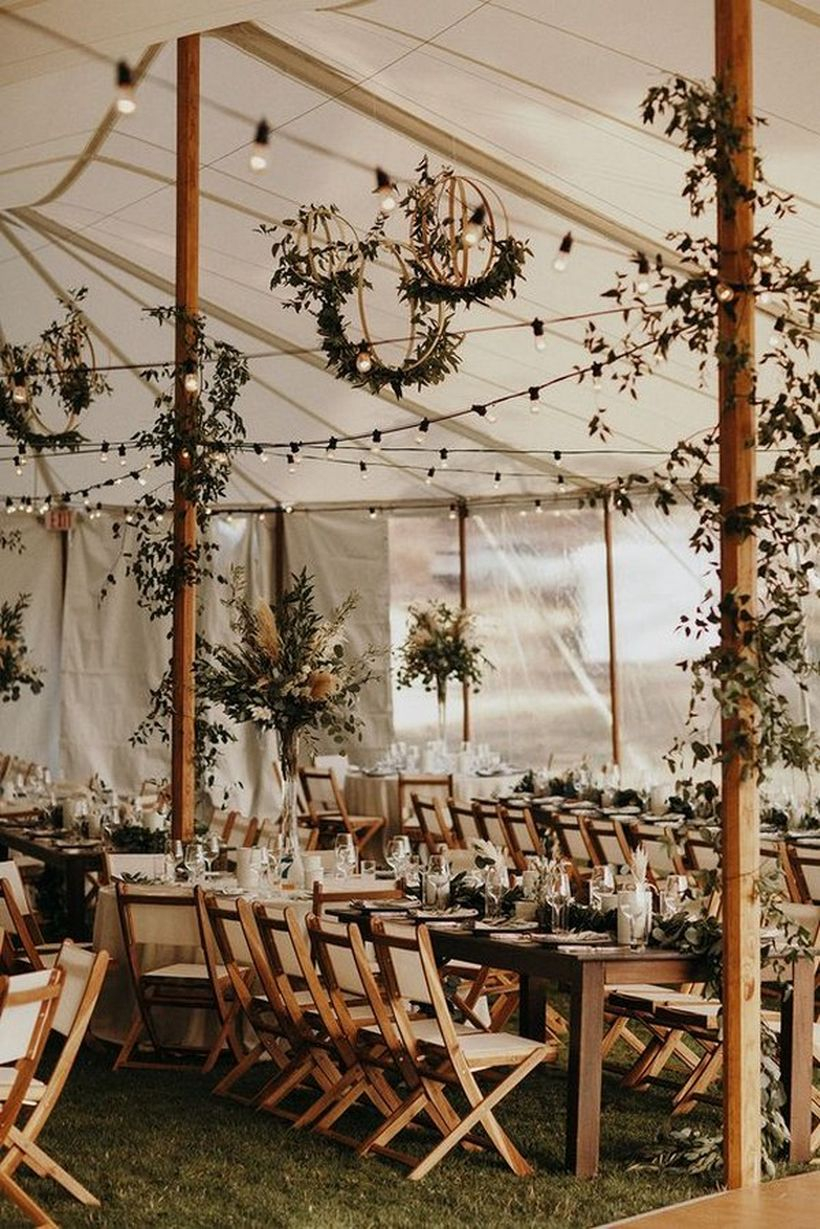 Bohemian tented wedding reception decoration ideas