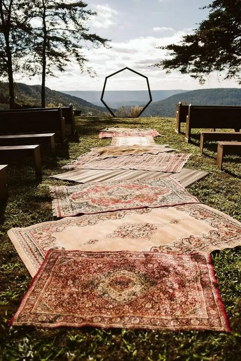 Bohemian wedding ceremony decoration