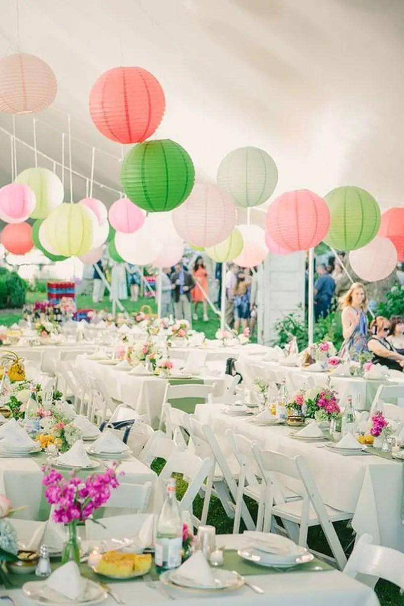 Colorful boho paper lantern