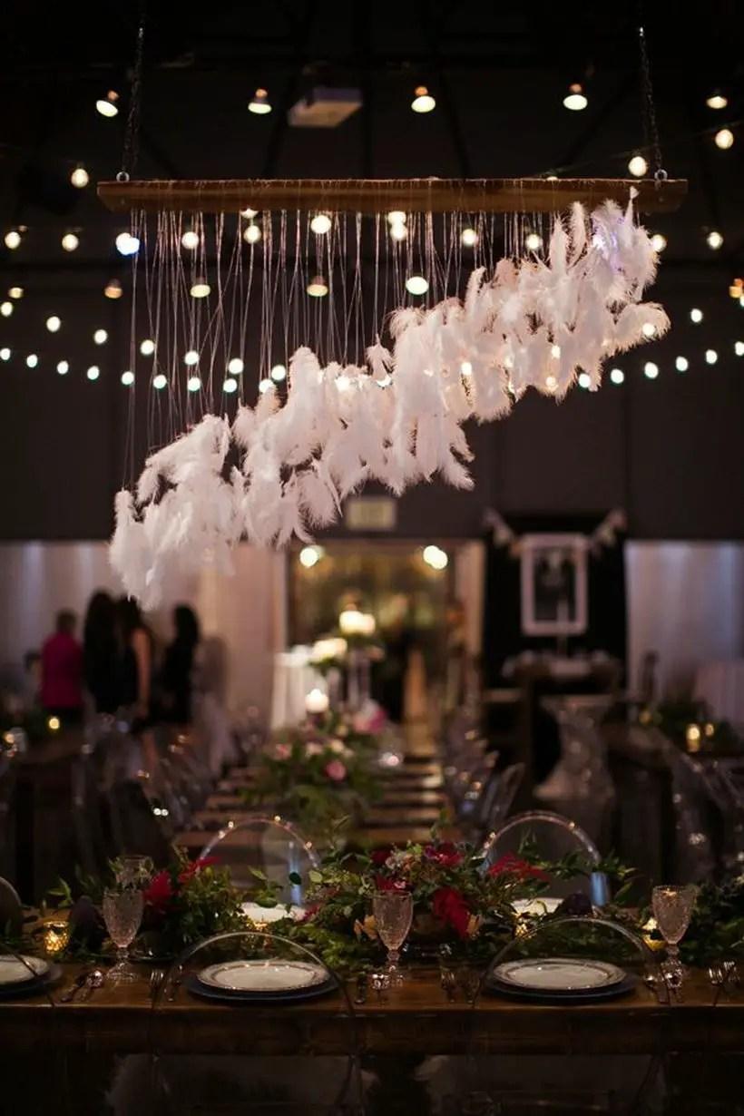 Hanging white furry decoration