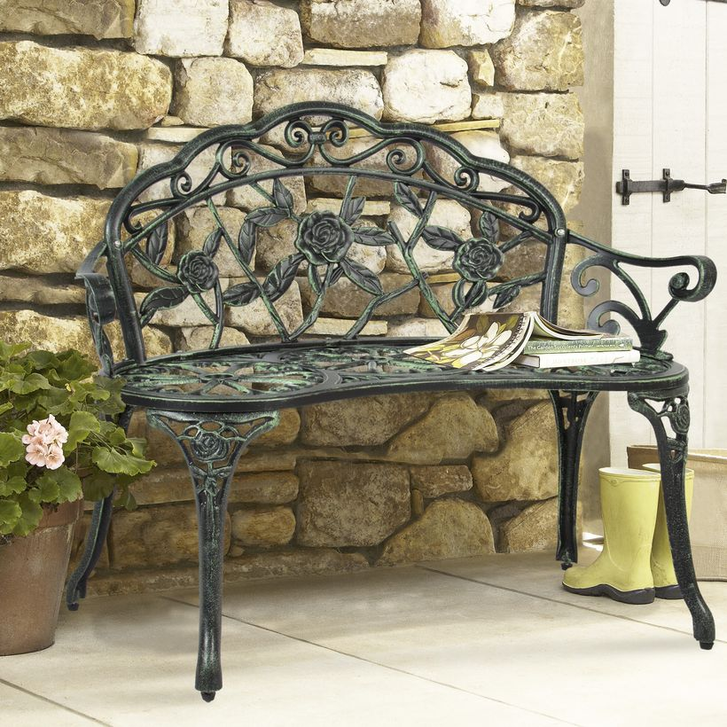 Unique-vintage-outdoor-furniture-with-iron-pattern-flower-chair-suitable-for-you-to-read-a-book-on-your-porch