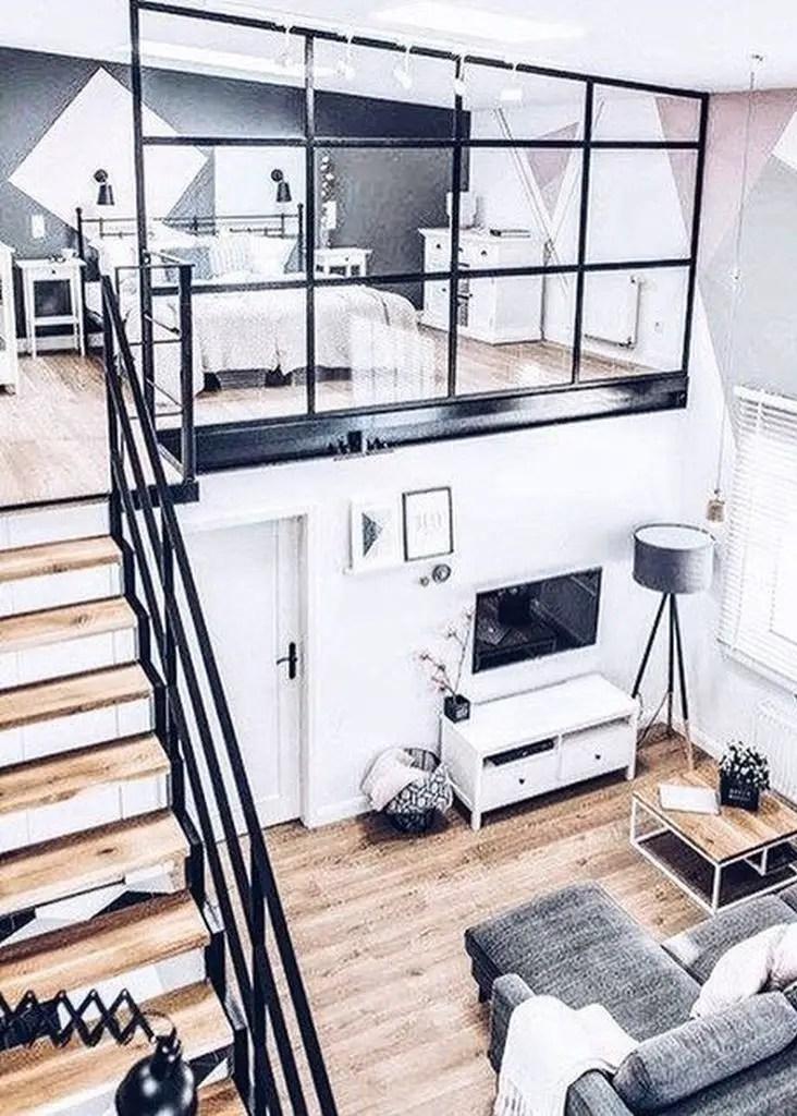 Modern loft bedroom decoration