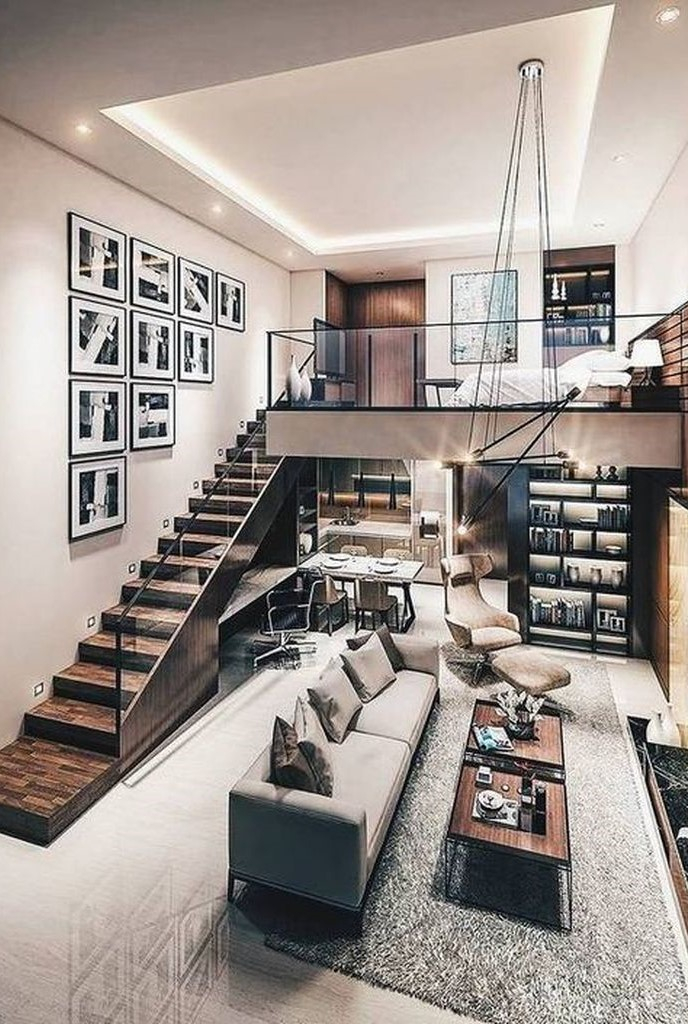 Modern loft bedroom design