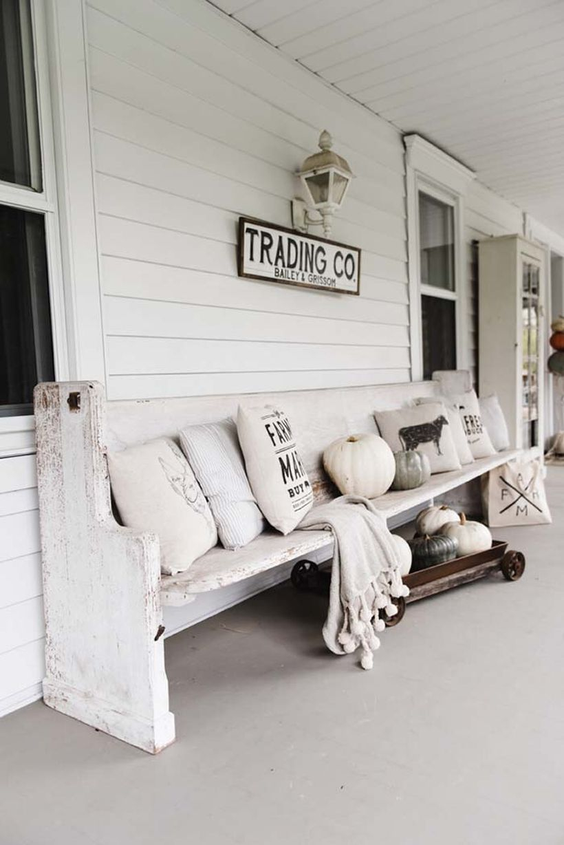 Monochromatic rustic porch