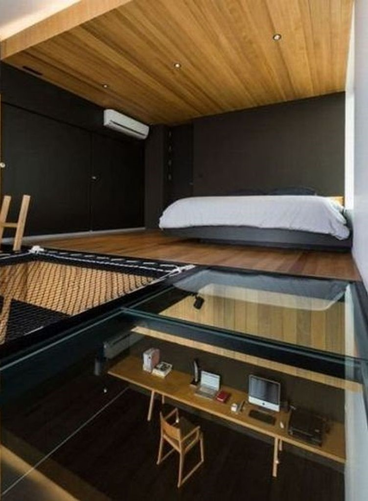 Tiny house with modern loft bedroom