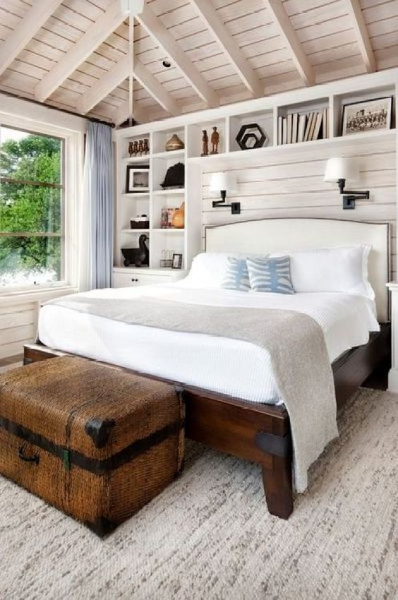 Wooden-ceiling-a-wooden-bed-and-a-large-chest-for-storage.-1
