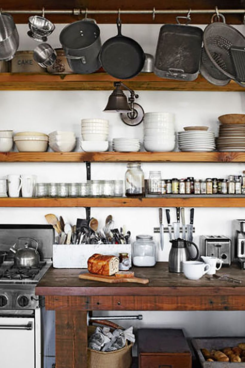 Dark-wooden-countertop-for-your-farmhouse-kitchen