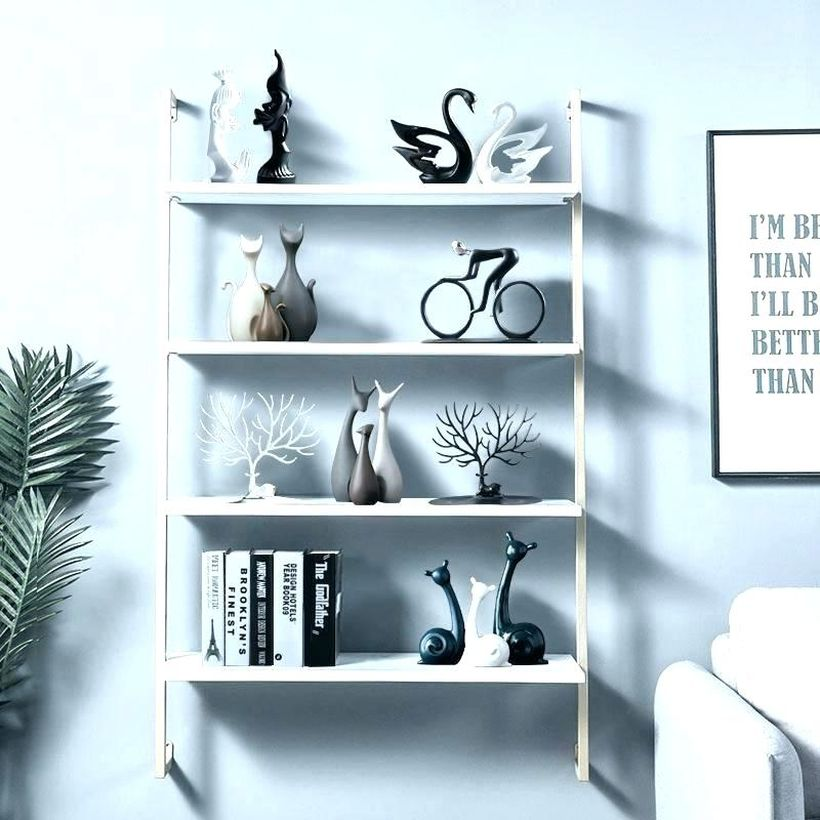 Decoration-hanging-ladder-rack-to-store-a-variety-of-modern-ornaments-to-decorate-your-minimalist-living-room