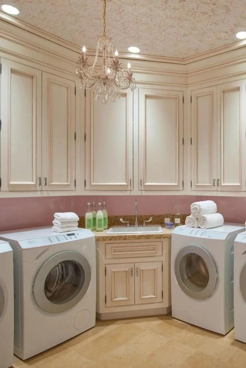 Feminine style laundry room decoration