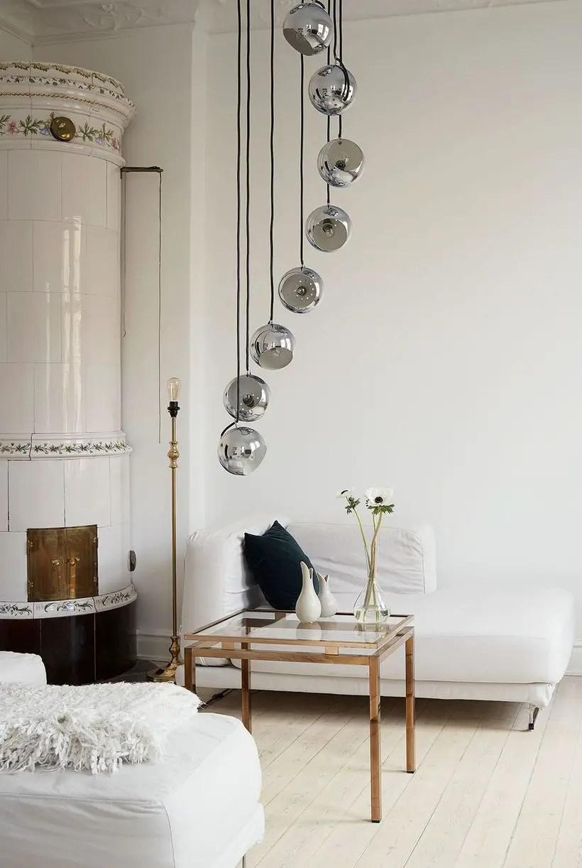 Minimalist-square-coffee-table-and-floor-lamp
