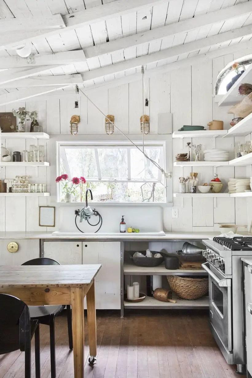 32 Proper Countertop Designs with Farmhouse Style ... on Farmhouse Kitchen Farmhouse Granite Countertops  id=49338