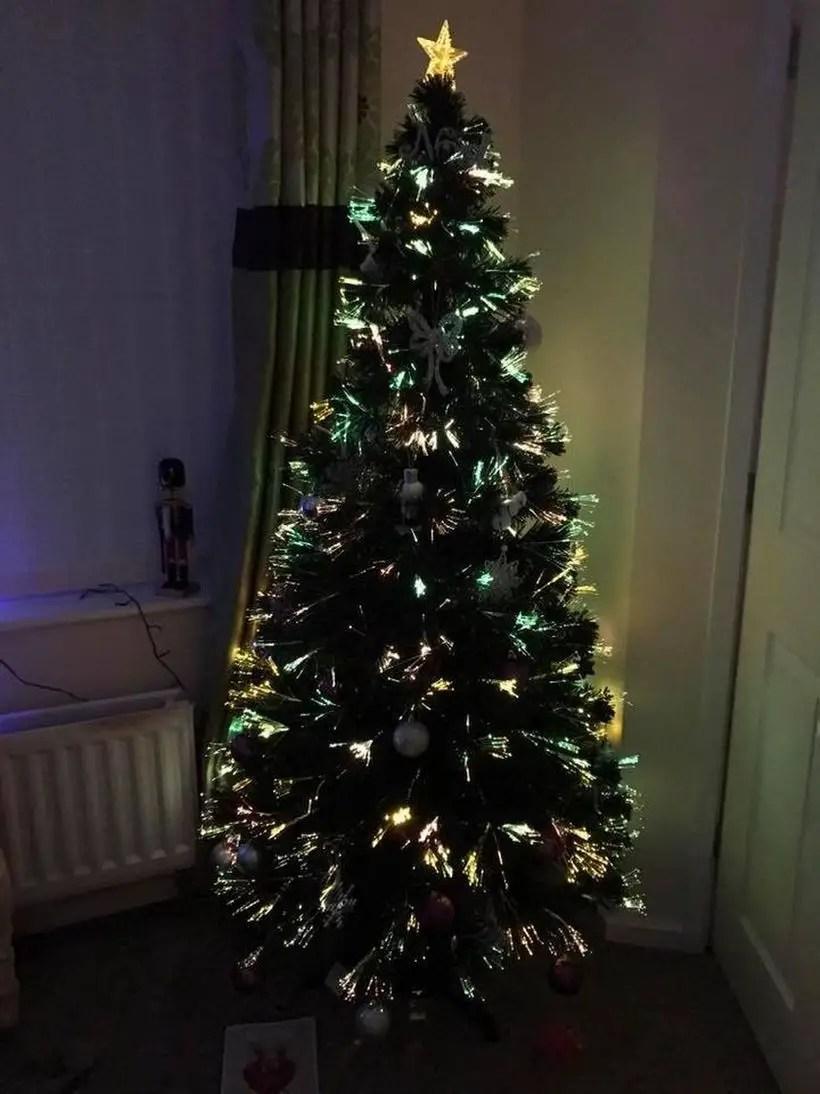 Chrismast tree combine wuth light