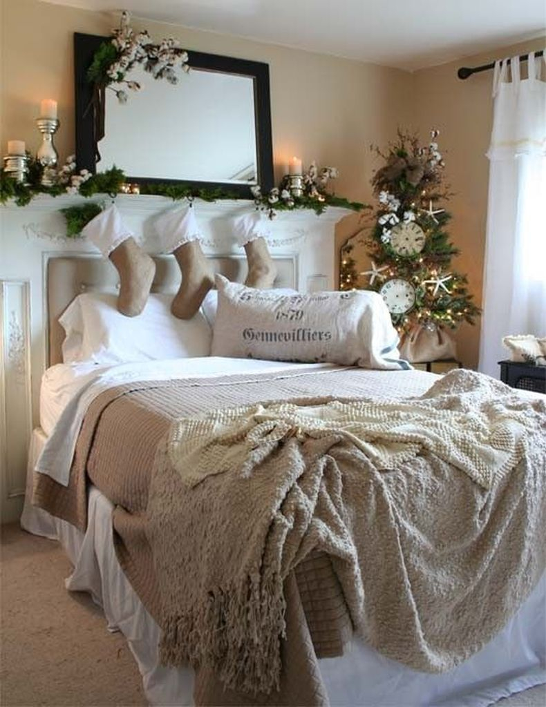 Christmas bedroom decoration for winter