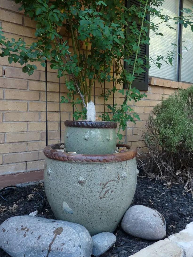 Diy-flower-pot-fountain
