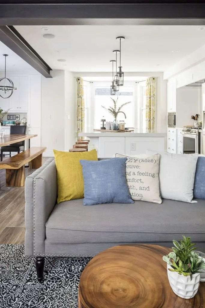 Modern white living room design