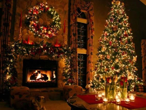 Christmas-decorations-fireplace-idea