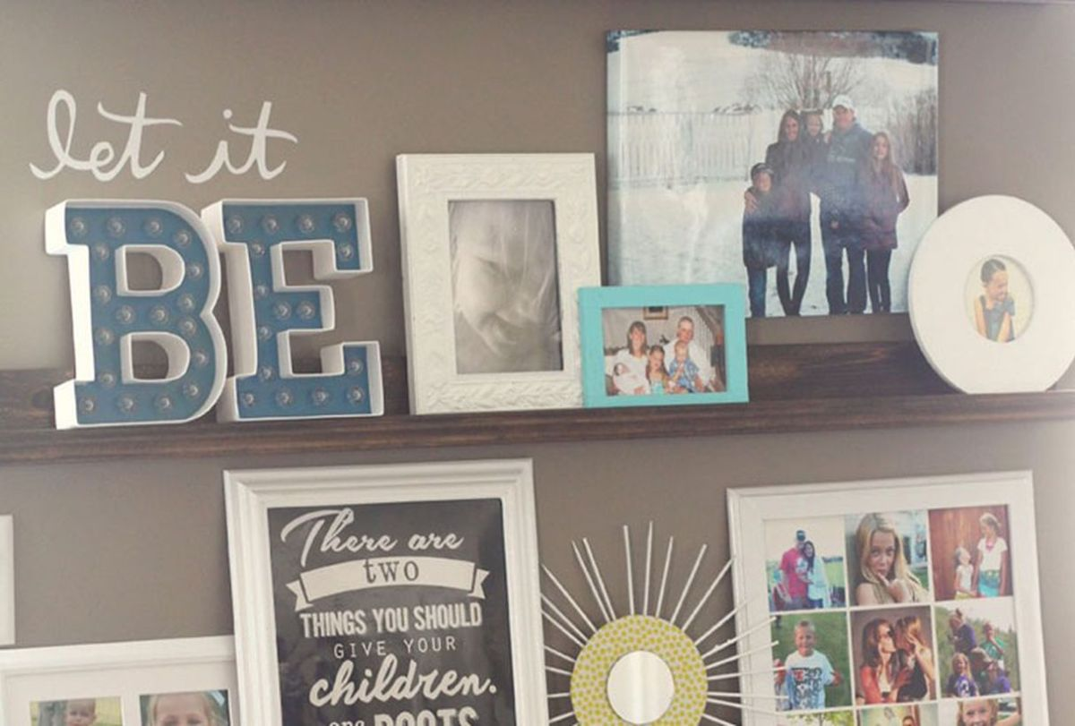 Family-photo-wall-create-photo-ledges