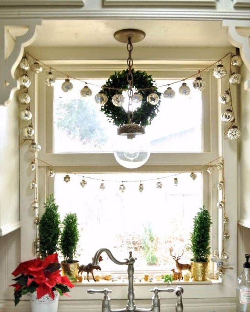 White string ornament for beautiful window