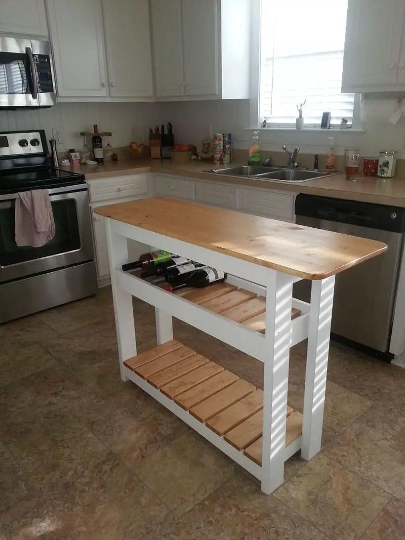 6reclaimed-pine-wood-basic-kitchen-island