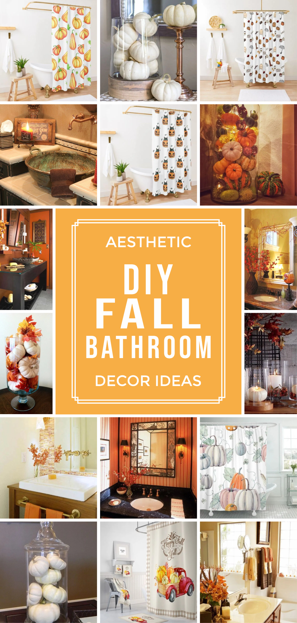 Aesthetic diy fall bathroom decor ideas 1