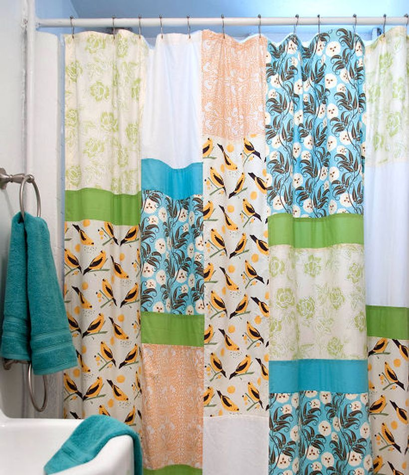 Patchwork-shower-curtain