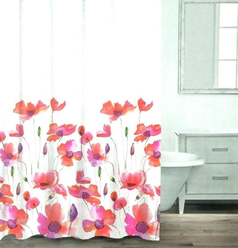 Purple-flower-shower-curtains-orange-floral-curtain-generous-red-gallery-the-best-bathroom-ideas-terrific-purpl