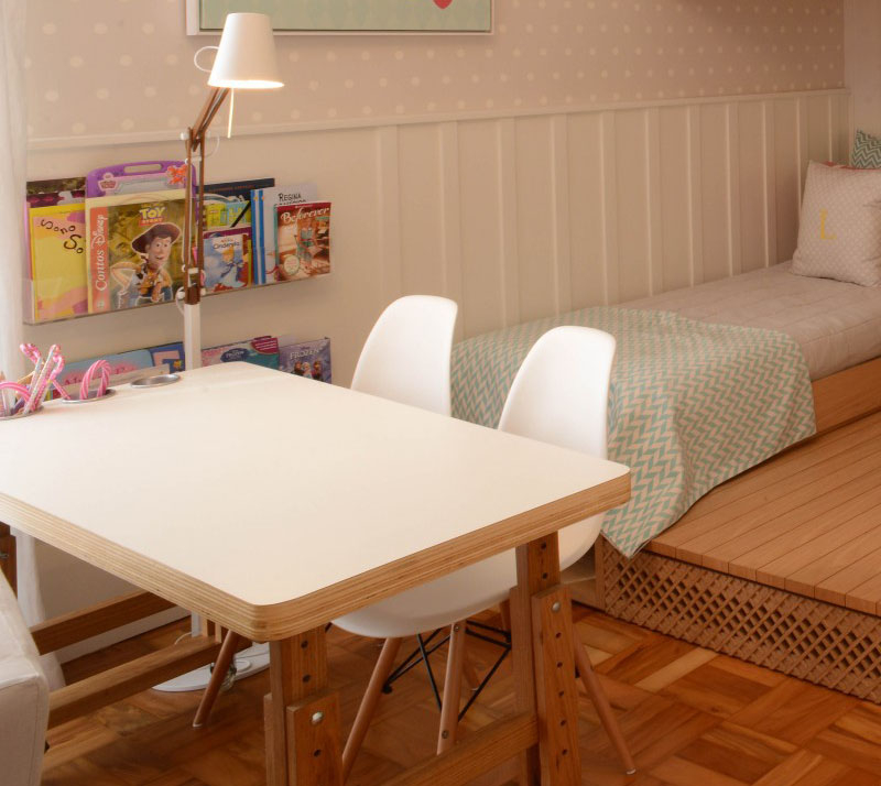 Beautiful bedroom for girls featuring a lofted playspace for both fun and rest 5
