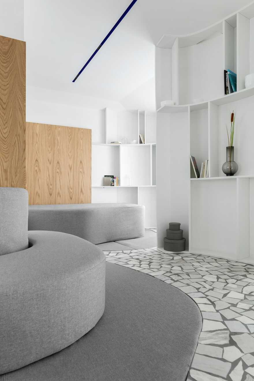 Interior design of a townhouse for a young family with two children 4