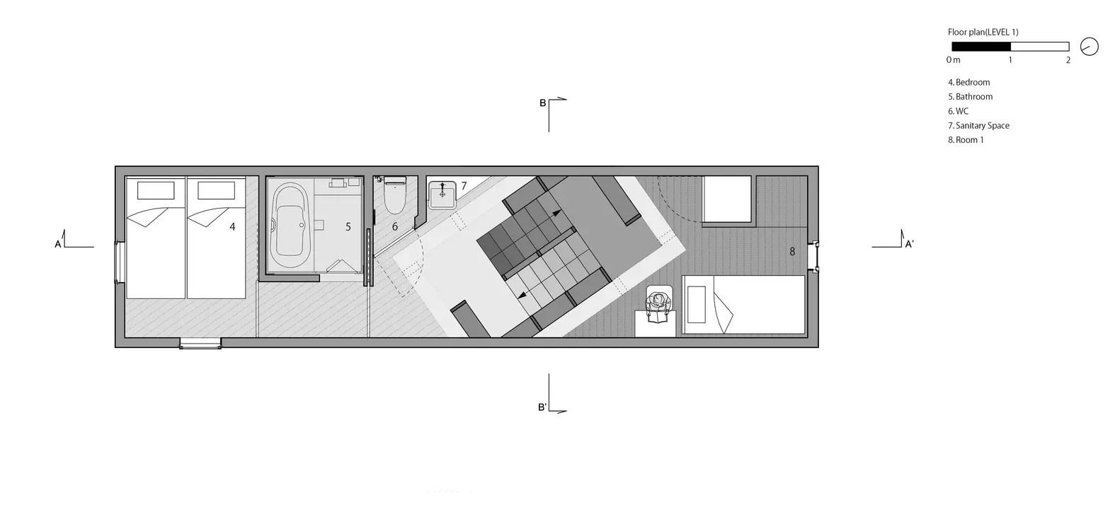 House_in_tezukayama_plan02_1f_level1_eng