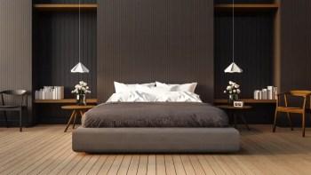 Loft-and-modern-bedroom-3d-render-image