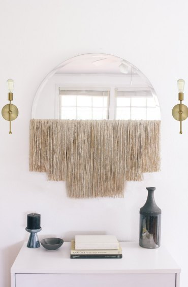 Boho-mirror-wall-decorating-idea