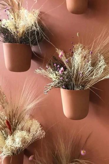 Wall-planter-pots-terracotta-mounted-vase