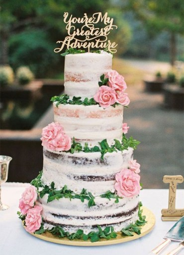 1 44-semi-naked-wedding-cake-with-pink-roses-and-a-calligraphy-topper