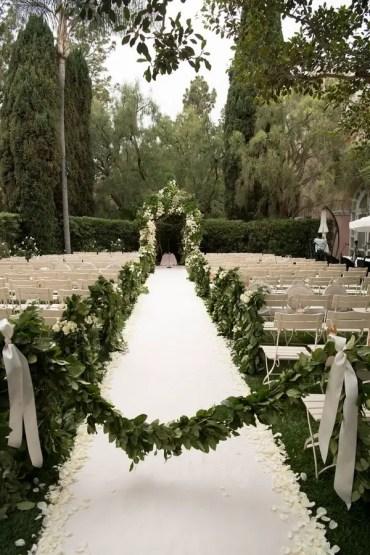 1 white-and-green-wedding-outdoor-garden-motif-beverly-hills-hotel-stone-aisle-white-aisle-runner-peta