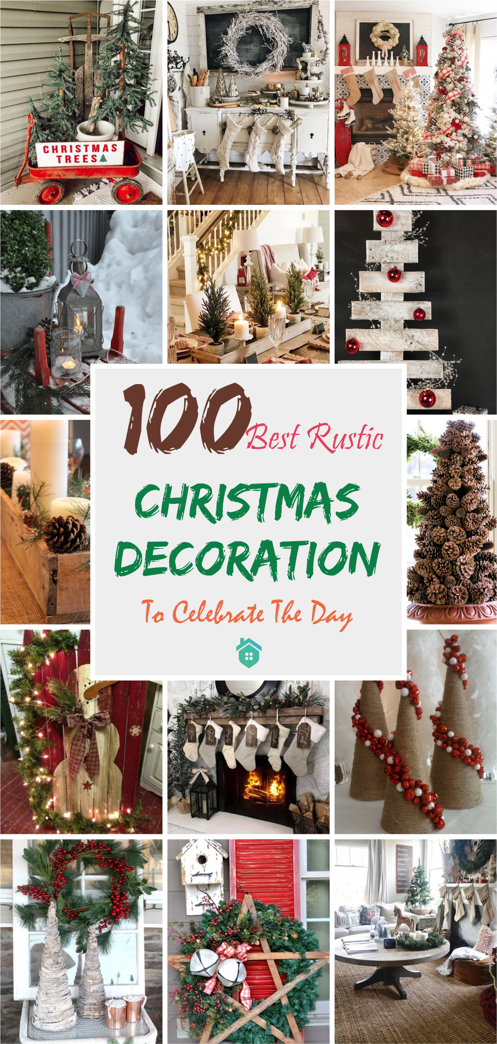 100 best rustic christmas decoration to celebrate the day5